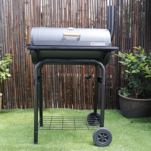Rear Heating Charcoal Barbecue Grill
