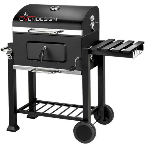 Charcoal-Trolley-Heavy-Duty-BBQ-Grill-Smoker 1