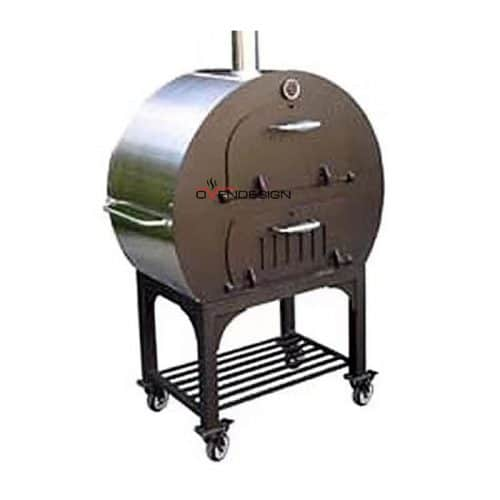 Charcoal Wood Fired Pizza Oven With Separate Food Room-Ovendesigns