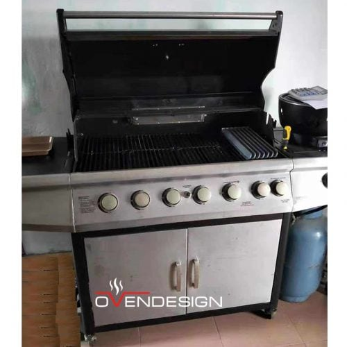Rear Heating Gas-fired barbecue grill-Designed by Ovendesign-3