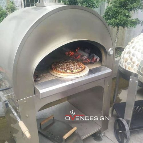 Traditional Wood-fired Pizza Oven Stainless Steel-Designed by Ovendesign-1