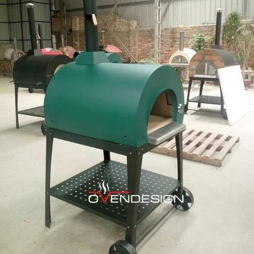 Wood fire Pizza Oven Green-Ovendesign-2
