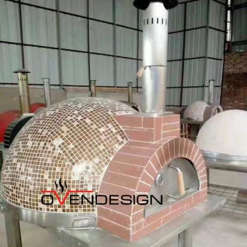 Wood fire pizza oven Mosaic-Ovendesign