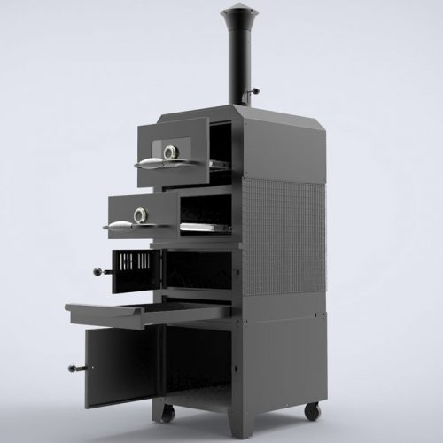 Large capacity double-layer Vertical BBQ Grill