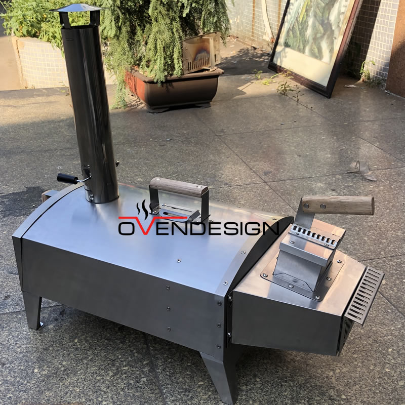Portable Wood-Fired Outdoor Pizza Oven Rear Heating po-rps-w01 2