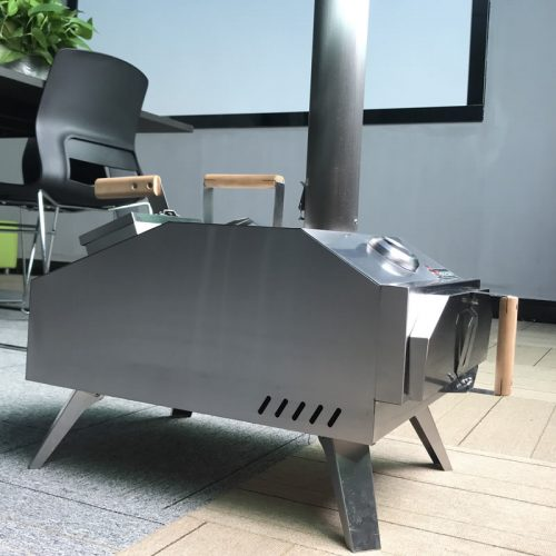 Portable Wood-Fired Outdoor Pizza Oven Rear Heating