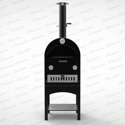 Gas Powered pizza oven with rotating, ovendesign NO.3G-1