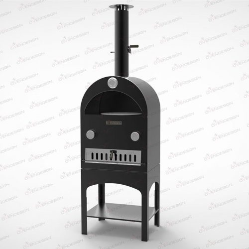 Gas Powered pizza oven with rotating, ovendesign NO.3G-1 1
