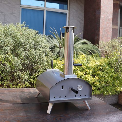Portable wood-fired Outdoor Pizza Oven, Stainless steel outdoor pizza oven QQW-2-S