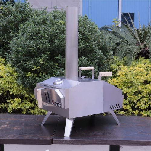 Outdoor portable wood fire pizza oven