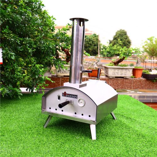 Outdoor stainless steel charcoal pellet pizza ovens for sale
