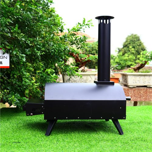 Drawer type black spray process outdoor gas pizza oven.
