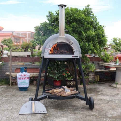 Wood-Fried Clay Pizza Oven CLAY-W-800-1-B1(1)