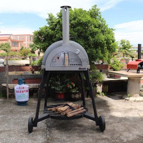 Wood-Fried Clay Pizza Oven CLAY-W-800-1-B1(2)