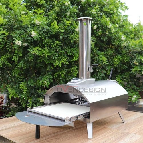 Stainless Steel CharcoalPelletsWood Outdoor Pizza Oven With Pull-Out Drawer (1)