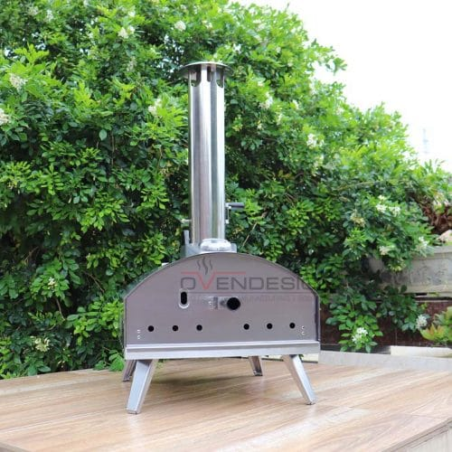 Stainless Steel CharcoalPelletsWood Outdoor Pizza Oven With Pull-Out Drawer (4)