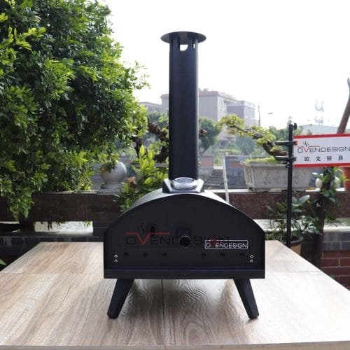 Latest Design Drawer Type Black Spray Process Outdoor Gas Pizza Oven(1)