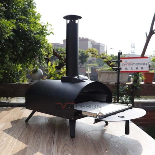Latest Design Drawer Type Black Spray Process Outdoor Gas Pizza Oven(7)
