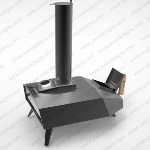 Wood-fired portable pizza oven UFO-W-P-1(7)